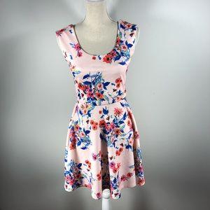 Candie'sWomens Floral Skater Dress Size M